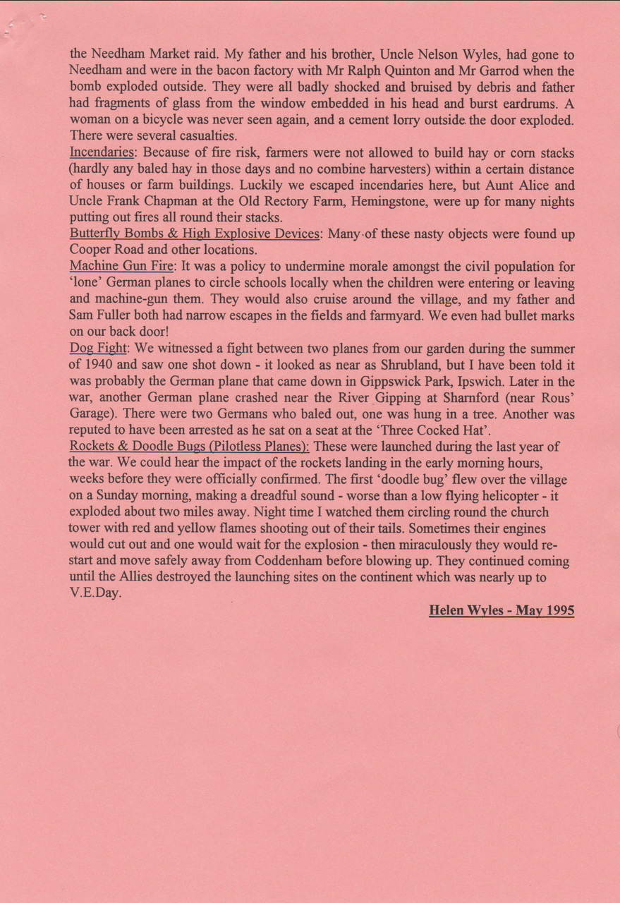 Helen Wyles recollections page 3