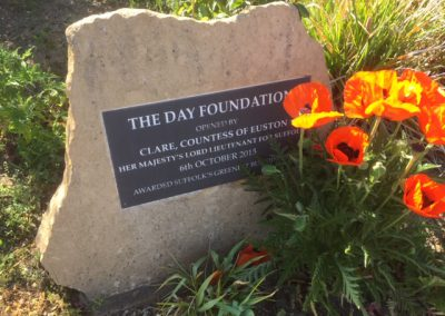 The Day Foundation Plaque in Garden