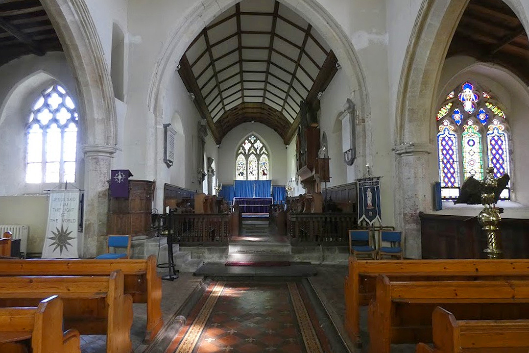 St Mary's Church Coddenham interior