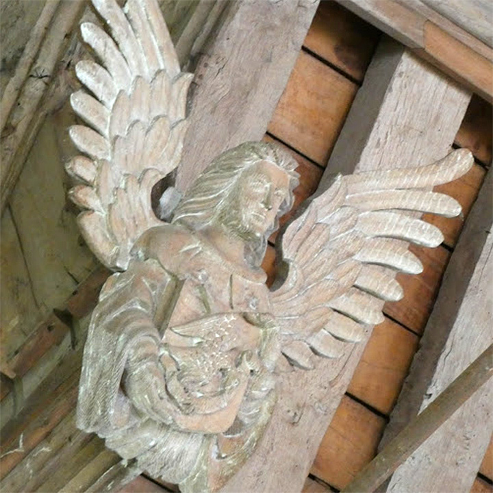 Detail in roof St Mary's Church Coddenham interior