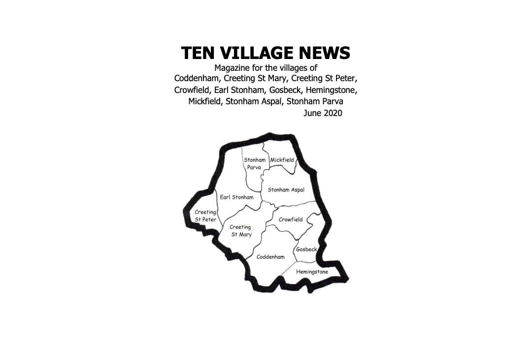 10 village news cover image black and white June 2020
