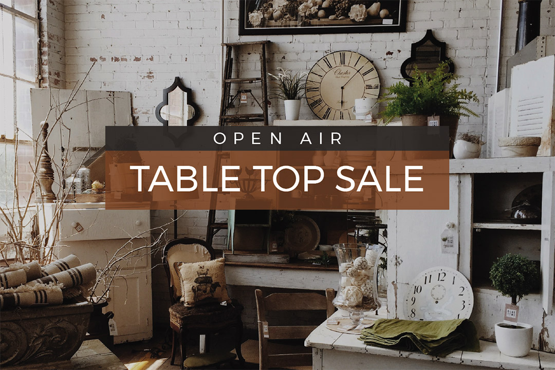Open Air Table Sale Featured Image