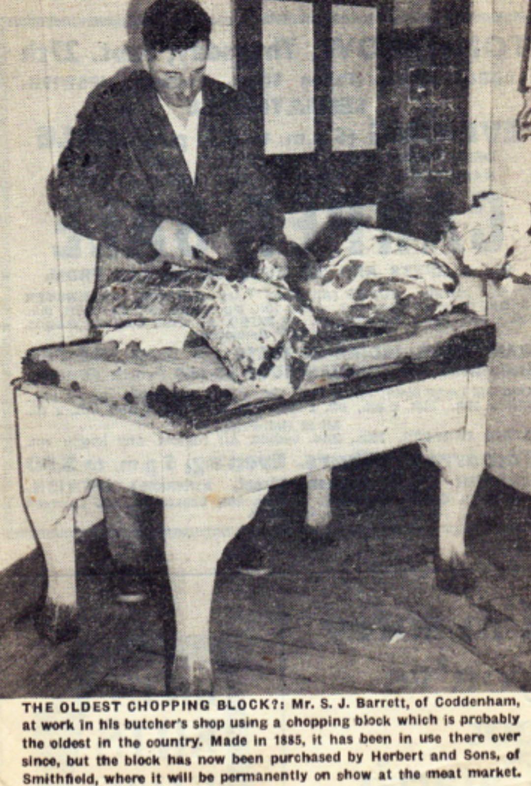 SJ Barrett at old Butcher Block paper cutting