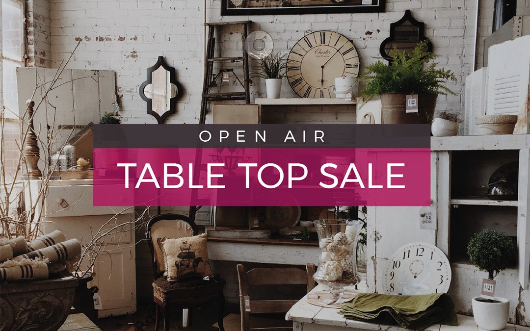 Safely Browse for Bargains  @The Coddenham Centre Outdoor Table Top Sale This Weekend