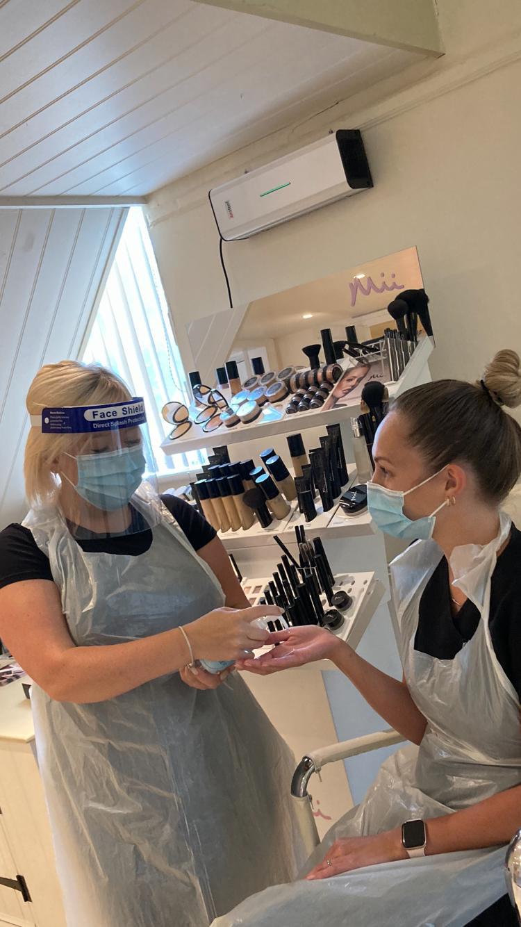 Girls work in PPE