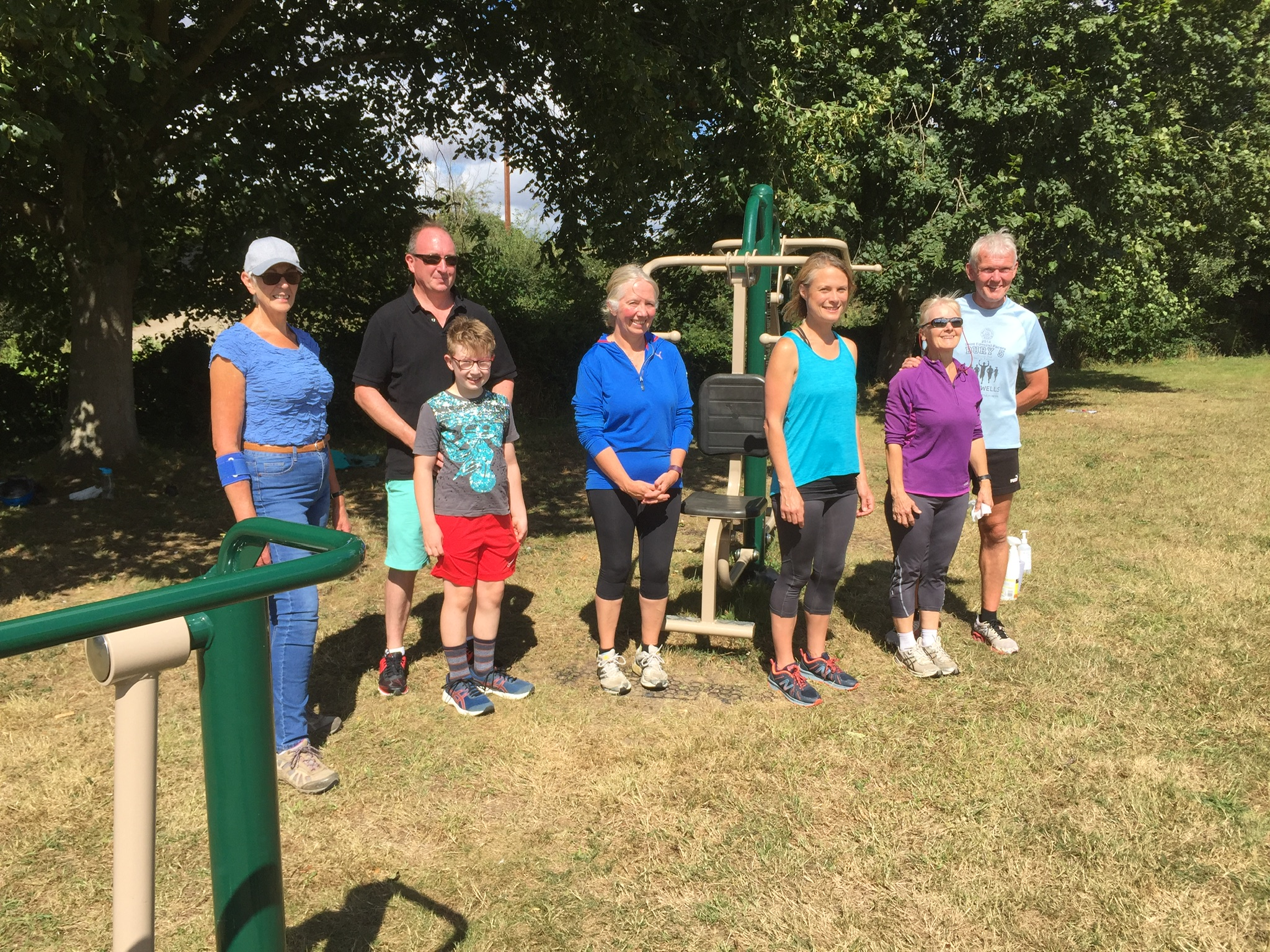 Using the Outdoor Gym in Coddenham