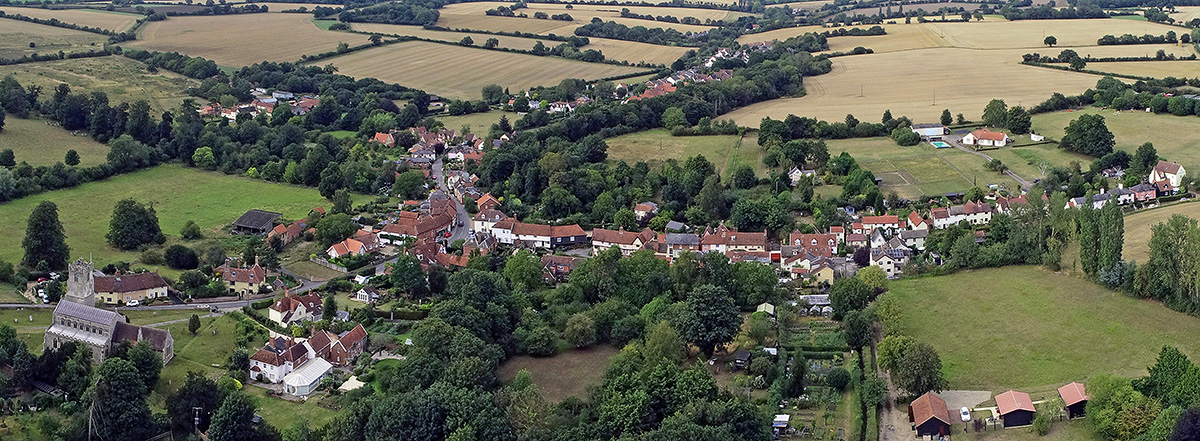 Coddenham from the Air