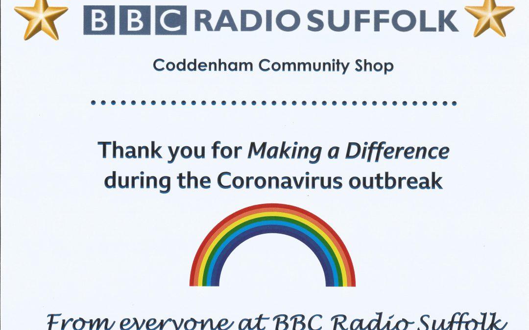 Thank you BBC – Community Shop Receives Local Award