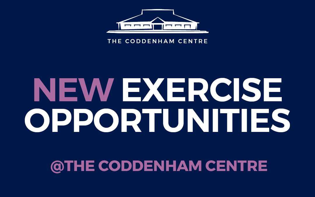 NEW Activities at The Coddenham Centre + More Free Tasters.STOP PRESS – These and other activities are now likely to be disrupted until December 2 nd.