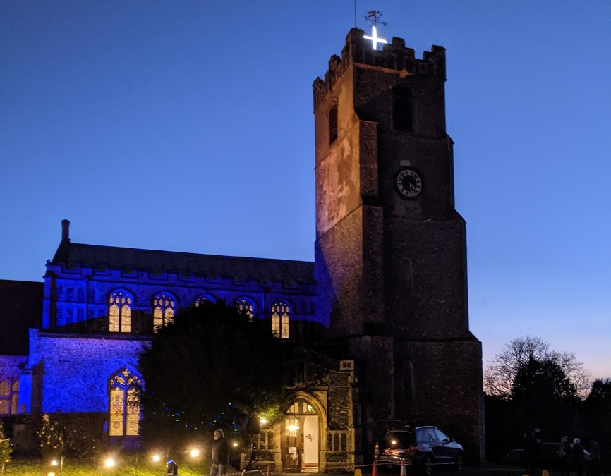 Christmas Eve celebration at St Mary's Coddenham