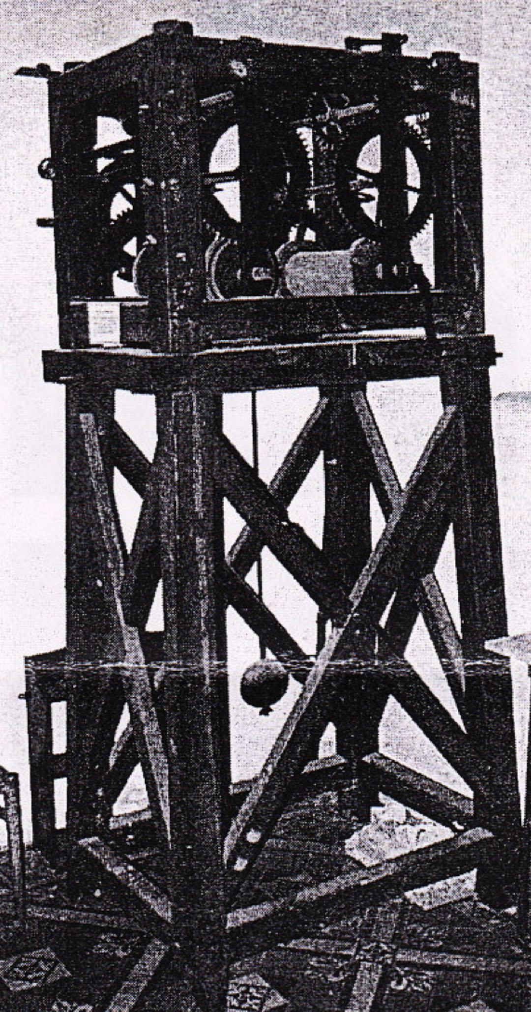 Church Clock frame and mechanism