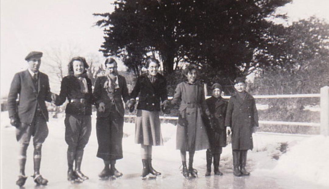 Group photo skating and snow 26 Jan 1940