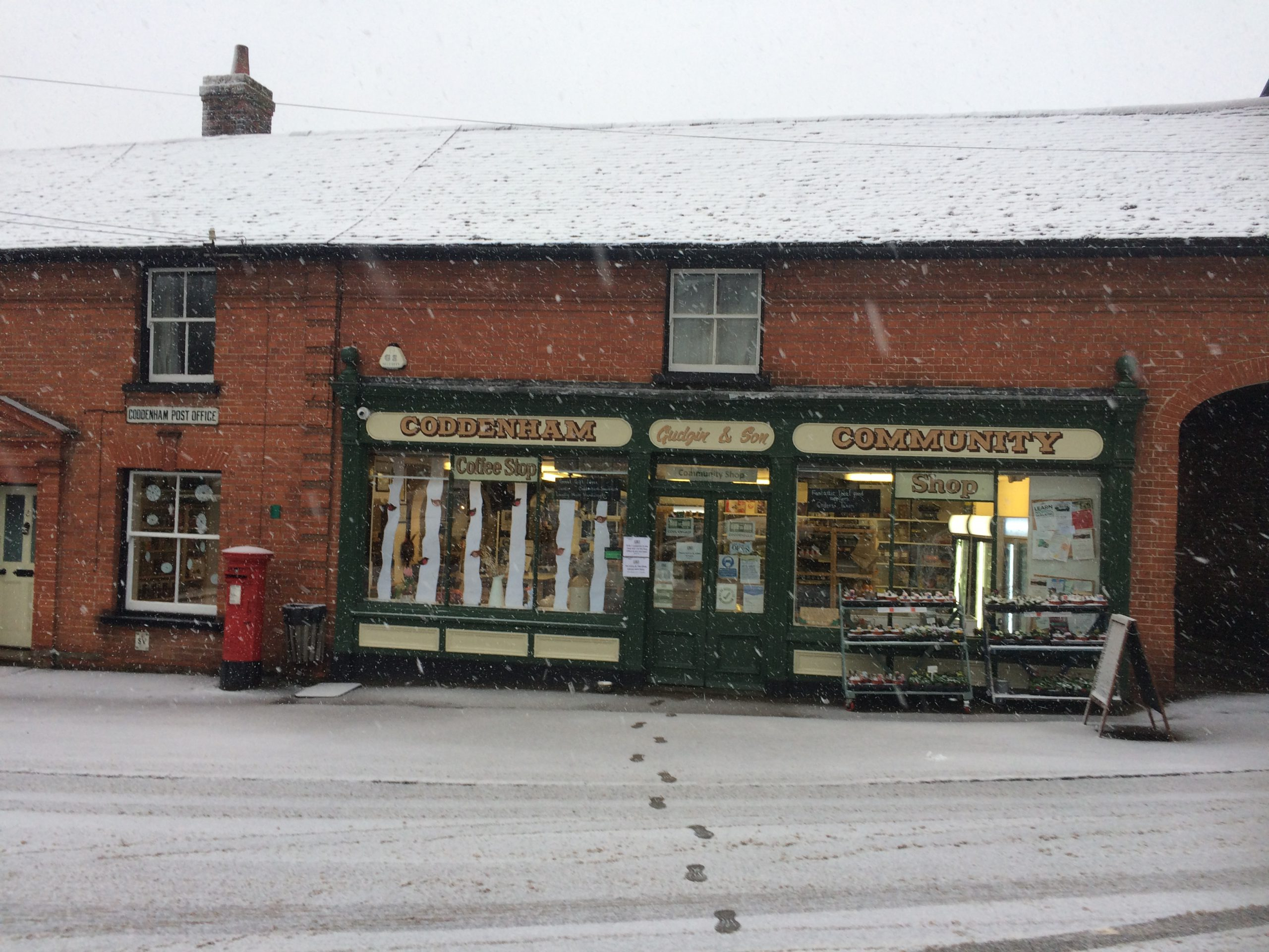Shop in the snow