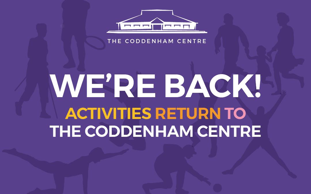 The Coddenham Centre is Back!
