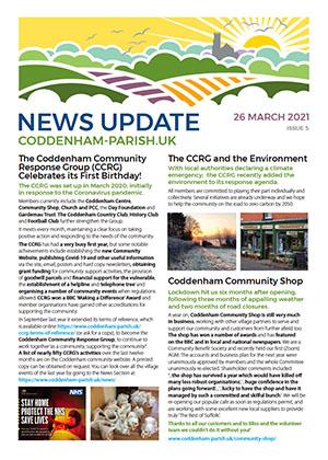 CCRG Spring 2021 Newsletter Cover