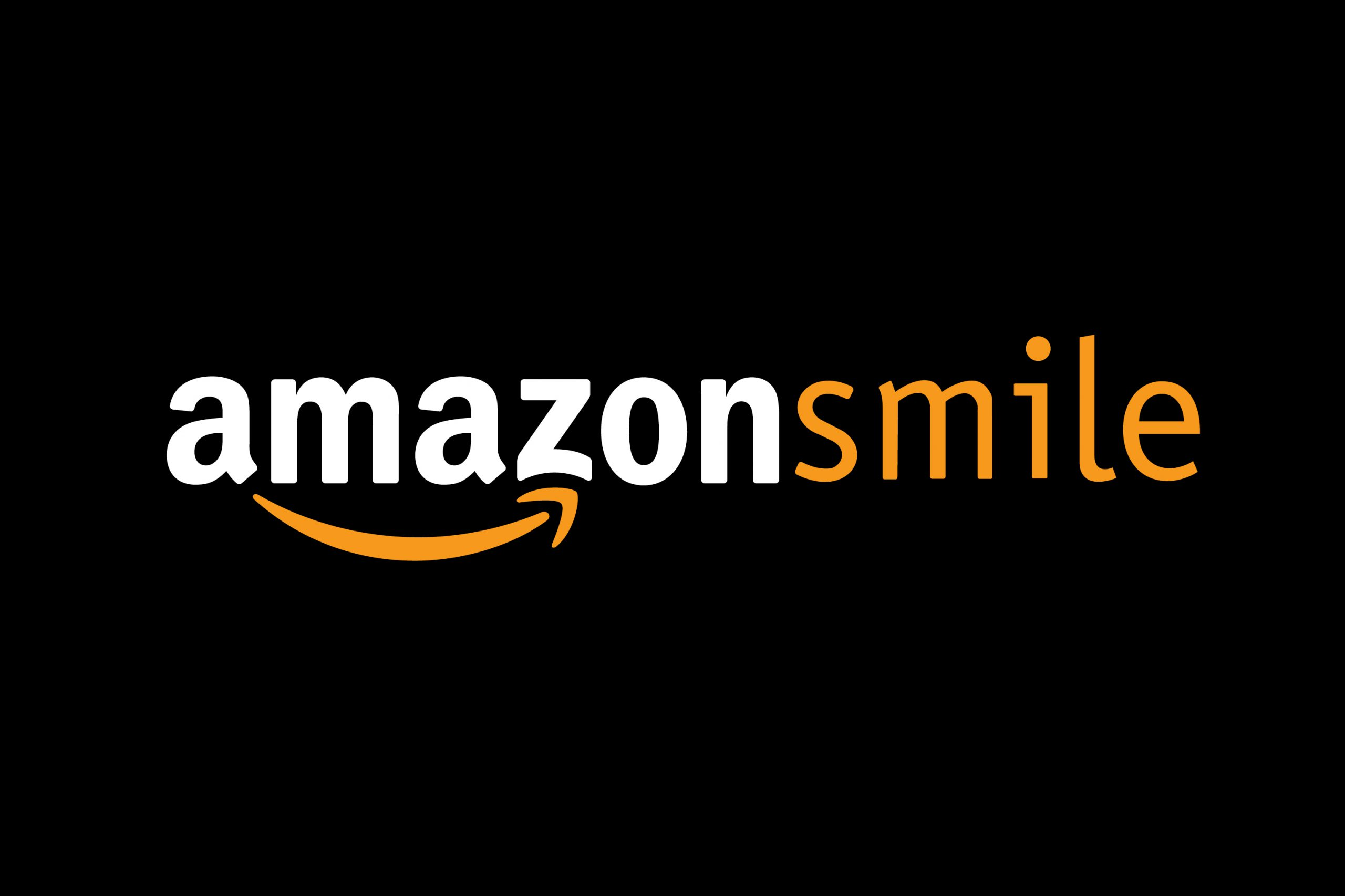 Amazon Smile Logo white out of black