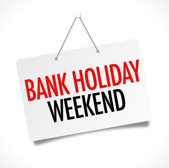 29th-31st May 2021 Bank holiday weekend opening hours at CCS