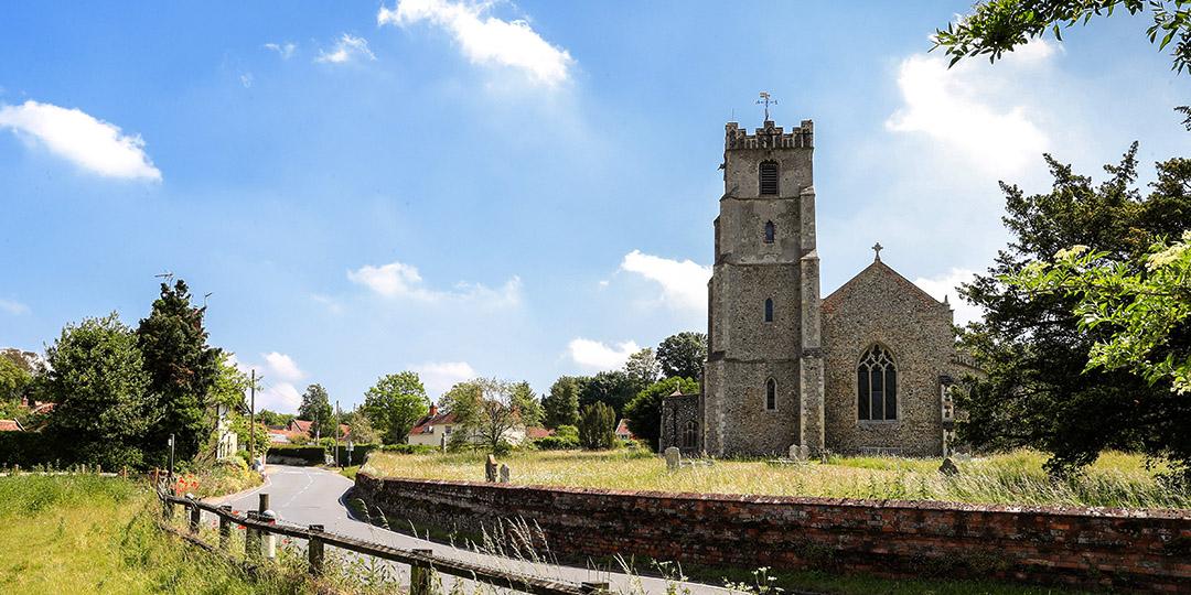 View of Chruch from Church Rd Coddenham