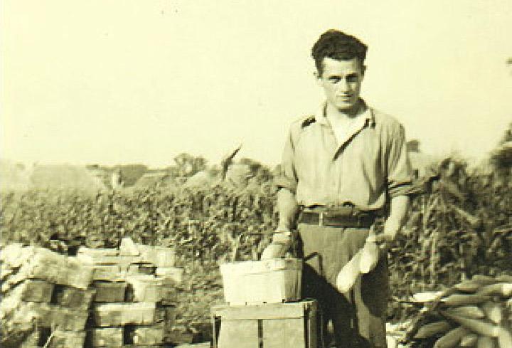 Toni Figliuolo in Coddenham during world war 2